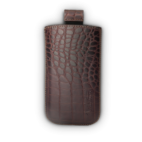 VALENTA MEN POCKET CASE CROCO (BROWN)